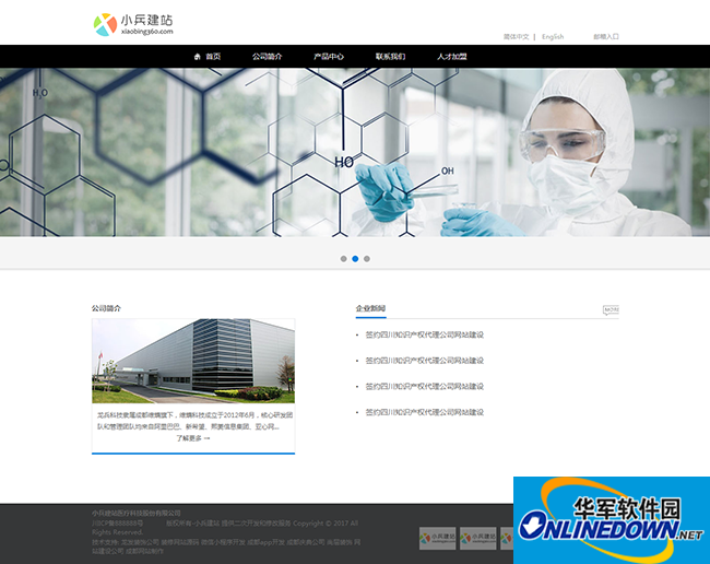 医疗科技公司网站模板_医院网站源码带手机版
