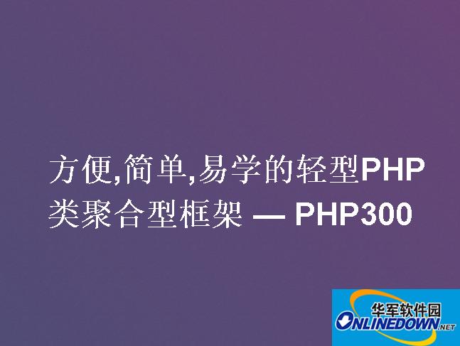php300framework PC版