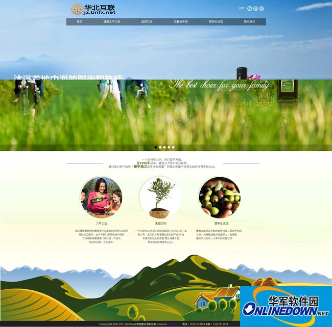 绿色食用油类企业dedecms模板 PC版