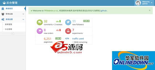 php后台管理系统_TP5admin