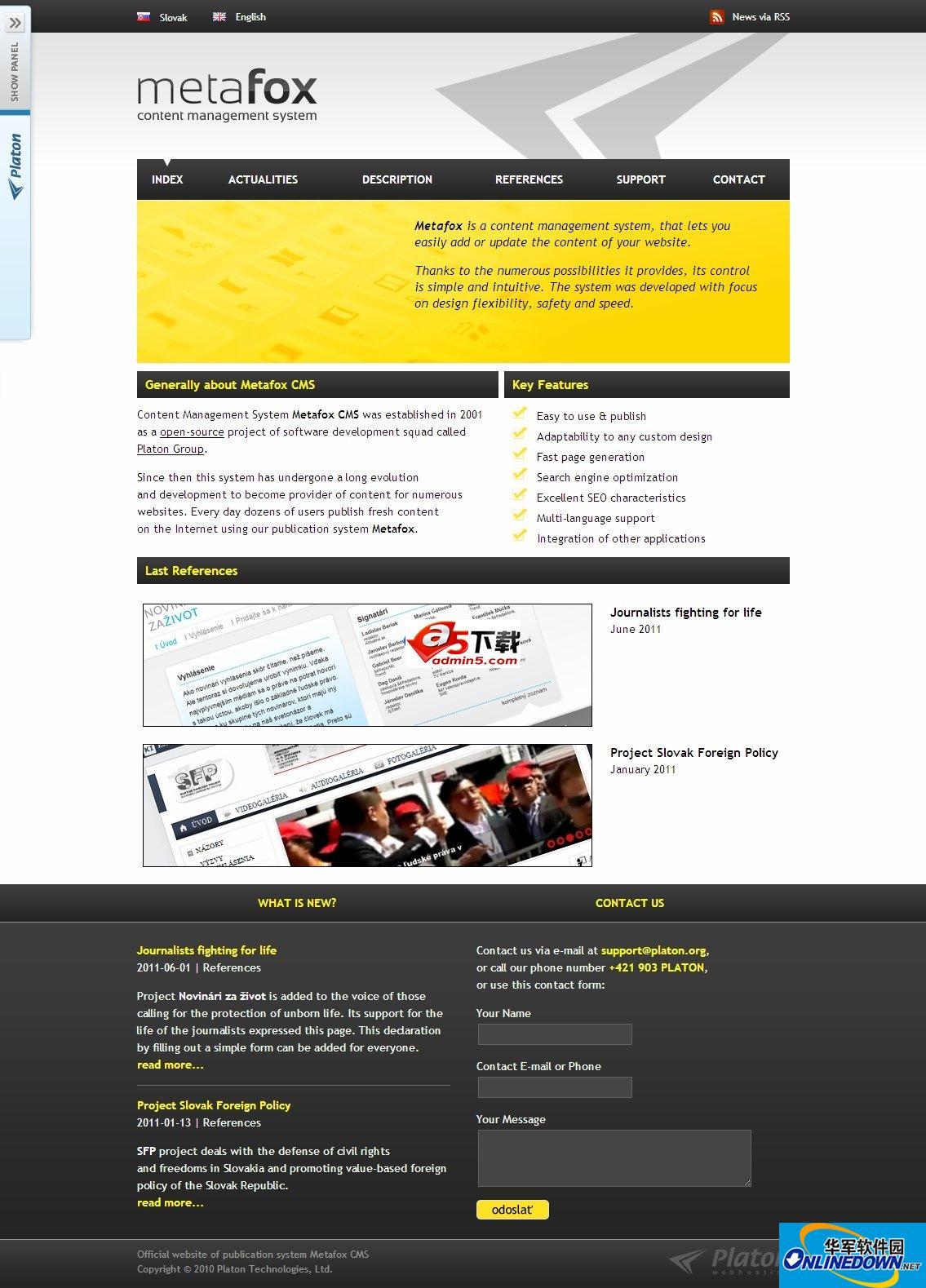 Metafox企业内容管理系统