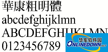 华康粗明体(繁) PC版