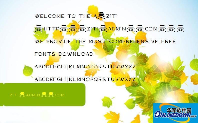 骷髅英文字体AcneDemo PC版