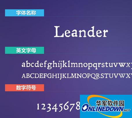 Leander(斑驳效果英文) PC版