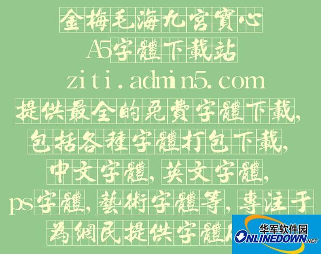 金梅毛海九宫实心 PC版