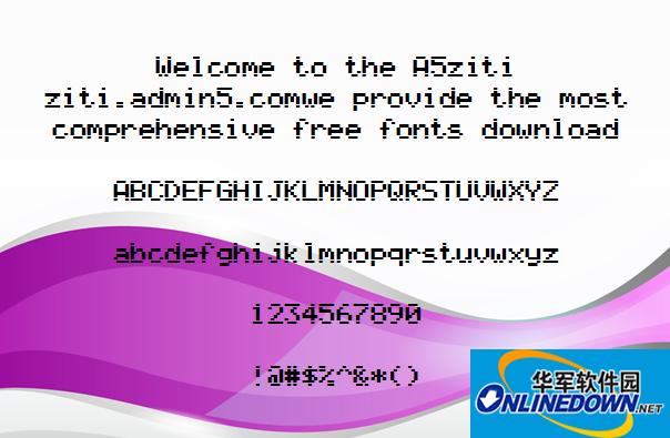 AlphaSmart字体