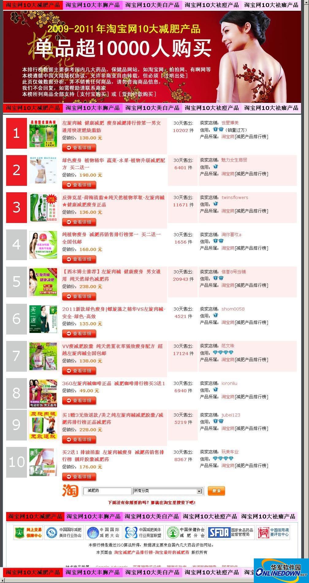 china128淘宝客减肥网站源码(五合一)