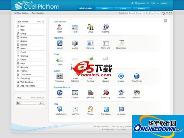 Openbiz Cubi PHP快速开发平台