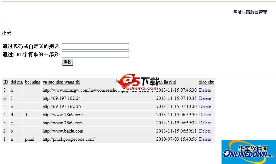 网址压缩系统(带后台管理)