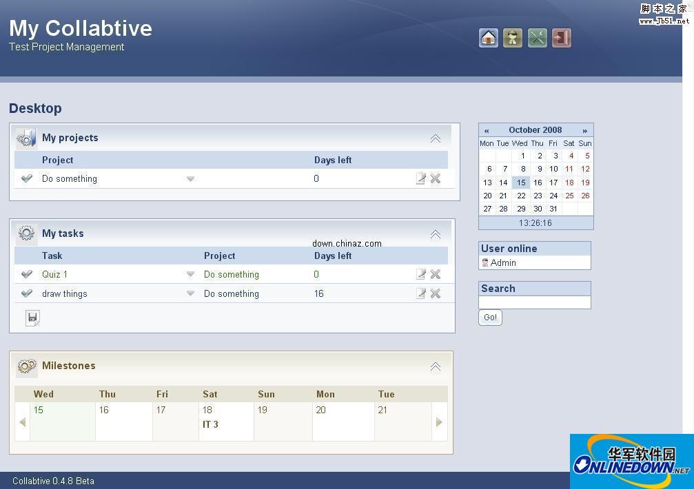 php 项目管理程序 Collabtive