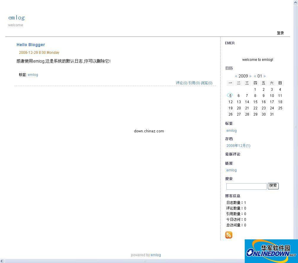 个人博客系统 emlog php
