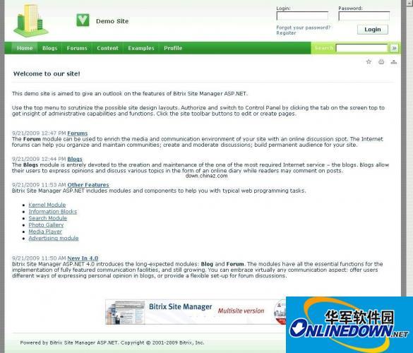 Bitrix Site Manager 世界顶级网站管理系统(ASP.NET CMS)