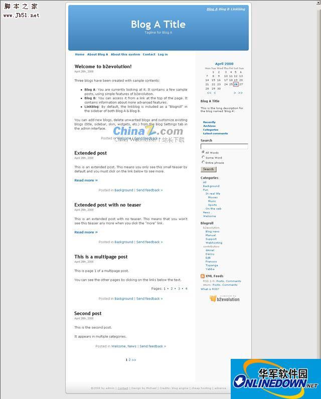 PHP 博客系统b2evolution 6.9.3 stable 多国语言版