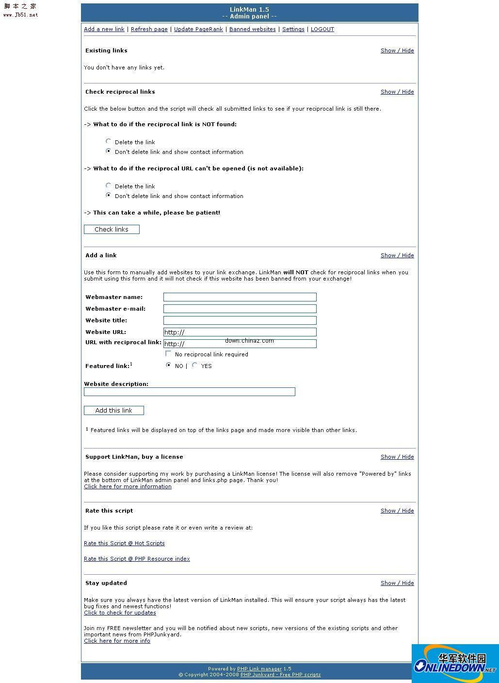 php搜索链接程序 LinkMan PC版
