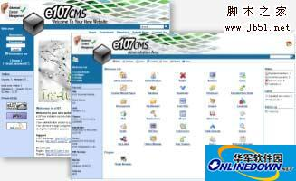PHP+MySQL 内容管理系统 e107 PC版