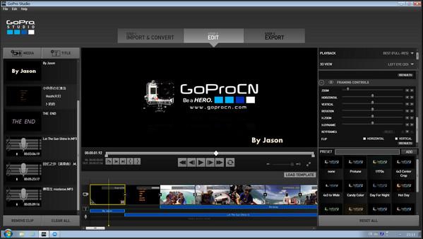 GoPro Studio(视频编辑软件) v2.5.1.389官方中文版