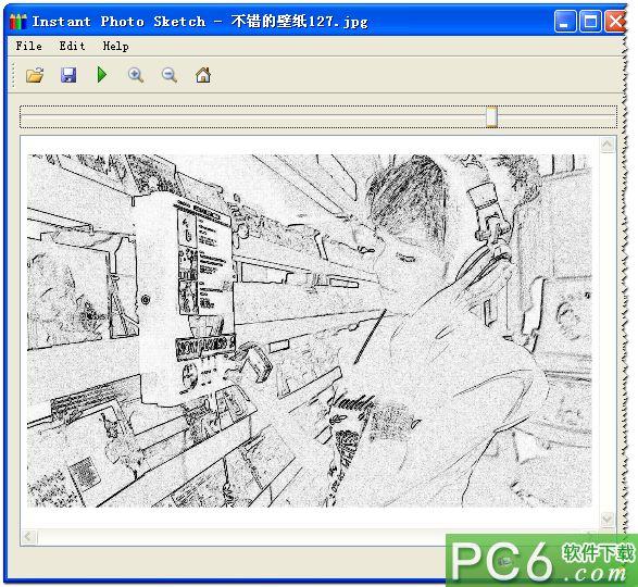 照片一键转换铅笔画(Instant Photo Sketch) v2.0绿色版