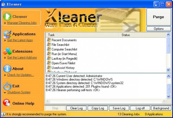Xleaner(系统垃圾清理工具)