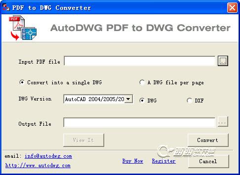 PDF转dwg(AutoDW...