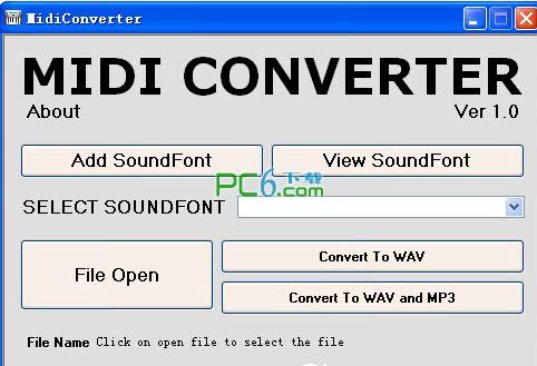 midi转mp3转换器(MidiConverter) v1.0
