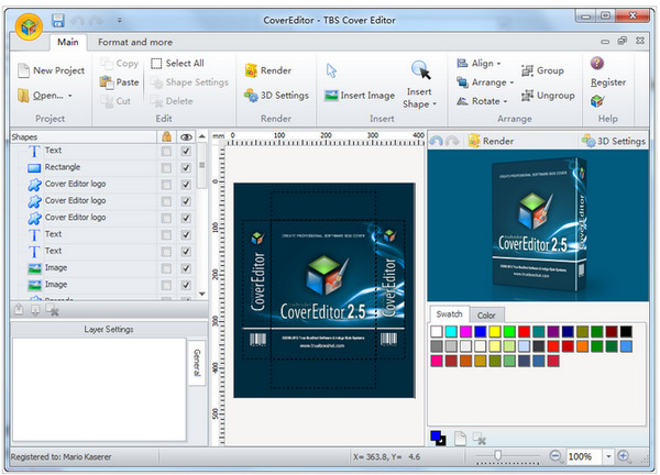 TBS Cover Editor(包装设计软件) v2.6.1免费版