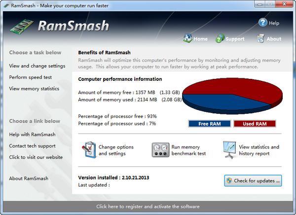 SwiftDog RamSmash(内存管理) v2.10.21.2013免费版