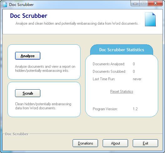 Doc Scrubber(word数据清理工具) v1.2