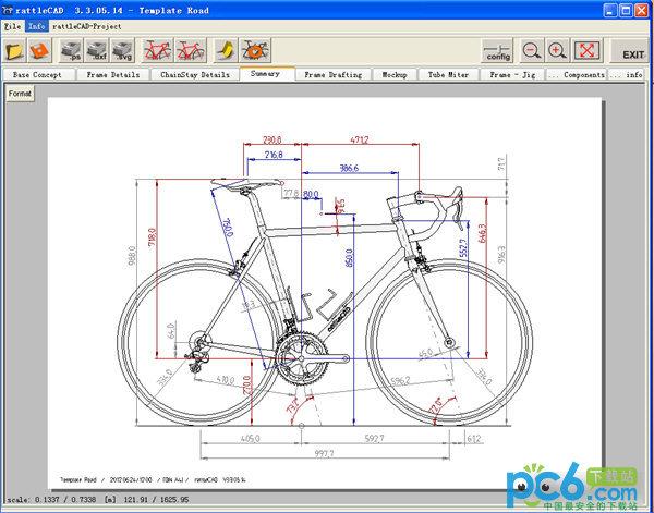 rattleCAD(自行车图纸设计软件)
