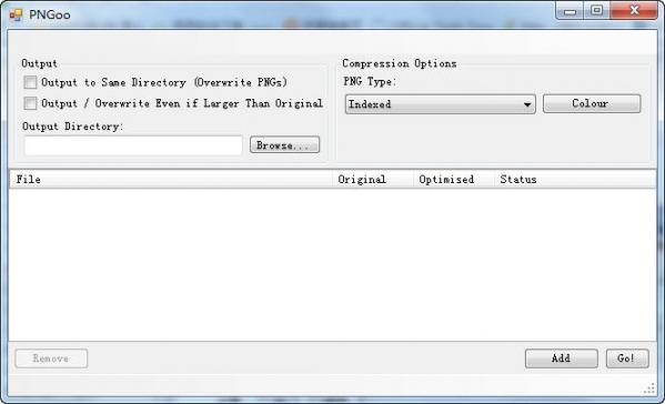 PNG图片压缩工具(PNGoo) v0.1.1绿色版