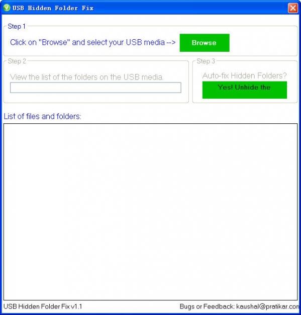 USB隐藏文件修复工具(USB Hidden Folder Fix)