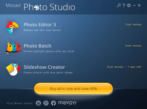Movavi Photo Studio(影楼图片工作室) v1.0.3官方版