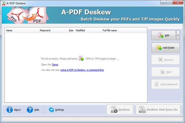 扫描图像倾斜校正软件(A-PDF Deskew)