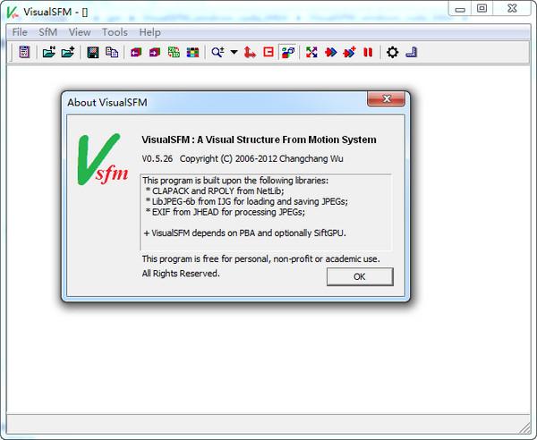 VisualSFM(SFM三维重建工具) v0.5.26绿色版64位