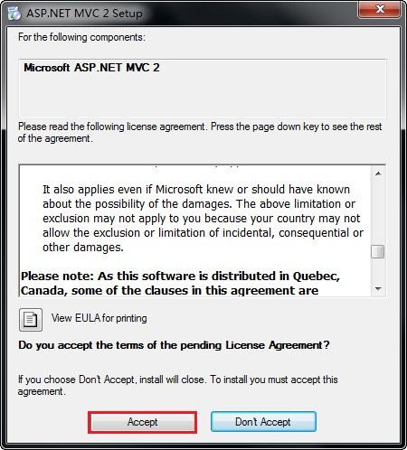 Microsoft ASP.NET MVC 2.0 RTM 官方安装包