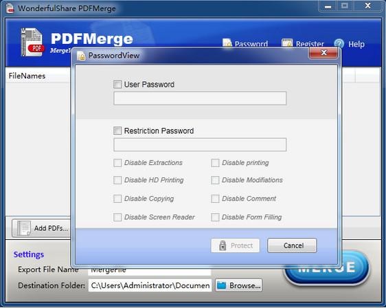 Wonderfulshare PDF Merge(PDF合并器)