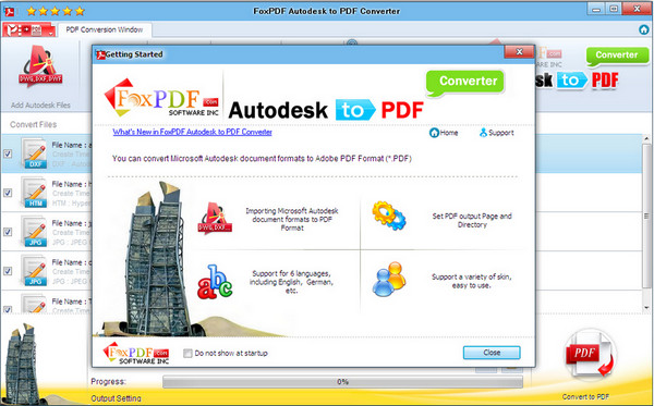 AutoDesk转换到PDF转换器