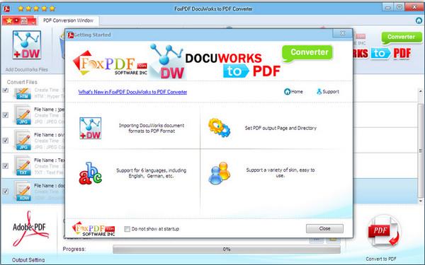 DocuWorks转换到PDF转换器