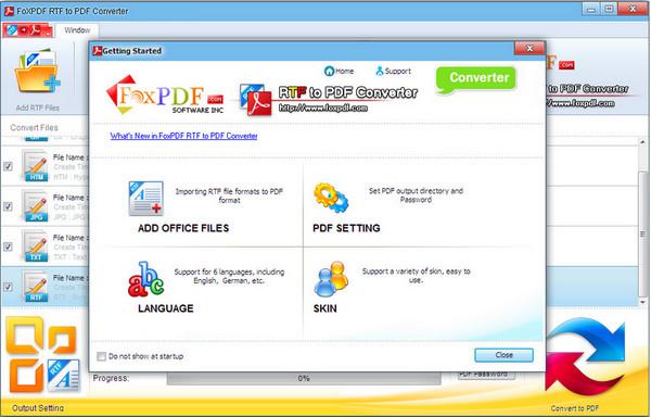 Rtf转换到PDF转换器
