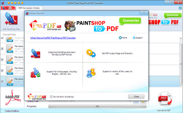 PaintShopPro转换到PDF转换器