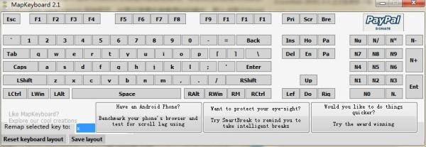 键盘键位修改器(MapKeyboard) 2.1绿色免费版