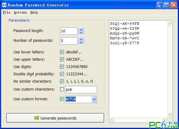 随机密码生成器(RandPass) 绿色版