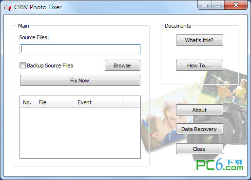 CRW文件修复工具(CRW Photo Fixer) 1.0绿色免费版