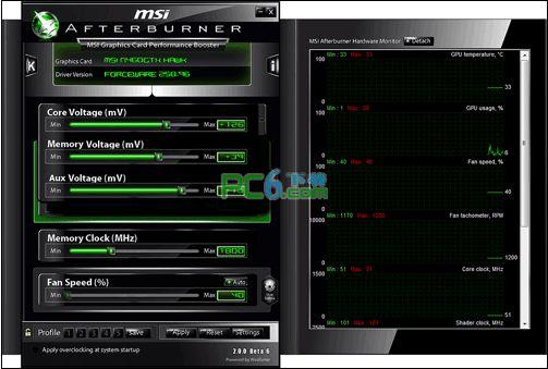 微星显卡超频软件(MSIAfterburner)