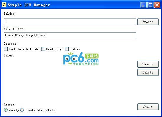 SFV文件管理(Simple SFV Manager)