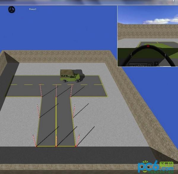 吉普车倒桩移库练习程序 3D绿色版