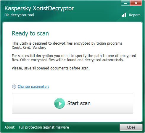 卡巴斯基病毒专杀工具(XoristDecryptor) v2.3.23.0官方免