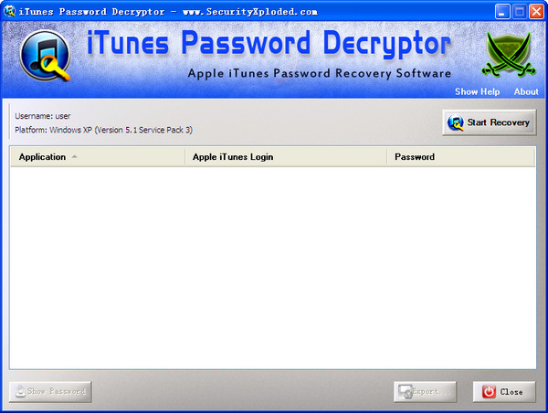 iTunes密码找回工具(iTunesPasswordDecryptor)