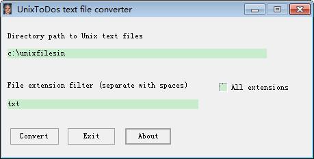 unixtodos文件转换器(UnixtoDos text file converter)