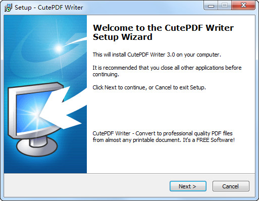免费pdf转换器(CutePDF Writer)