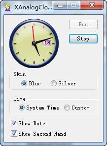 XAnalogClock(模拟时钟)